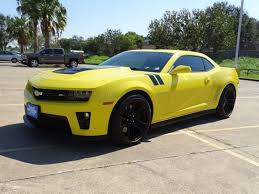 yellow camaro zl1 2014 chevrolet camaro zl1 certified