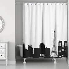 And Black Fabric For Curtains Buy Black And White Fabric Shower Curtains From Bed Bath Beyond