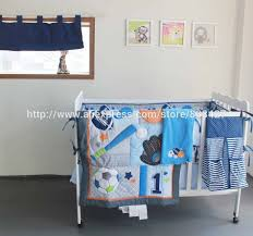 Boy Nursery Bedding Set by Aliexpress Com Buy 8 Pcs Baby Crib Bedding Sets Baseball Sports
