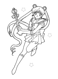 sailor moon coloring pages postare biz