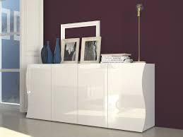 Buffet design blanc laqué 4 portes da 190 cm
