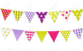 Pretty Bunting Flags Bunting Clipart Colorful Pencil And In Color Bunting Clipart