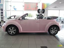 white volkswagen convertible 2006 new beetle 2 5 convertible custom pink grey photo 1