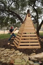 Backyard Teepee Diy Cedar Play Teepee Home Design Garden U0026 Architecture Blog