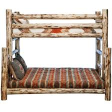Bunk Bed With Twin Over Full by Montana Skip Peel Twin Over Full Log Bunk Bed Rustic Log