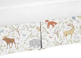 amazon com sweet jojo designs fitted crib sheet for woodland