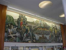 lakeview post office mural chicago il living new deal