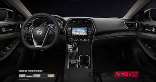nissan maxima 2016 interior 2016 nissan maxima colors and trims 20