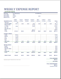 Company Expense Report Template by Ms Excel Weekly Business Expense Report Template Word Document