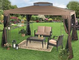 Outdoor Gazebo Curtains Illustrious Wooden Bay Window Curtain Pole Tags Square Bay