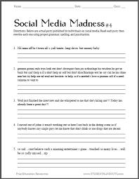 social media madness sheet 4
