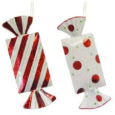 large tin peppermint ornaments set of 2 polyvore