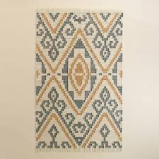 Yellow Outdoor Rug And Yellow Geo Flatweave Indoor Outdoor Rug