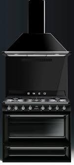 piano cuisine smeg piano de cuisson smeg tr90 noir avec hotte et crédence cuisine