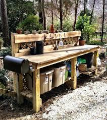 gardening work bench cool garden potting table ideas outdoor