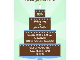 35th birthday party invitation template zazzle 35th birthday