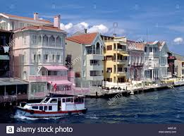 luxury homes line the shore of the bosphorus the waterway which