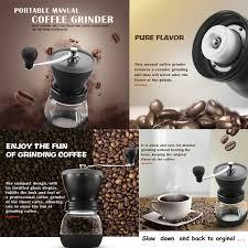 Portable Coffee Grinder Mindkoo Manual Coffee Grinders Ceramic Burr Hand Crank Grinding