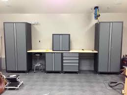 new age garage cabinets sleek modern garage storage cabinets with desk completed with
