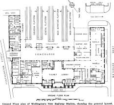 ground floor plan of wellingtons new railway station showing the