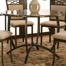 Faux Marble Top Dining Table Round Dinner Table W Faux Marble Top By Cramco Inc Wolf And