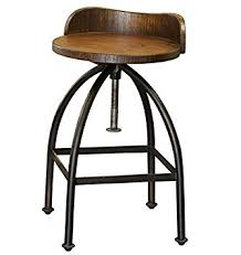 Metal And Wood Bar Stool Amazon Com Distressed Industrial Iron And Solid Wood Bar Stool