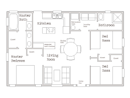 Best 3 Bedroom Floor Plan by Small House 1000 Sq Ft Cozy Three Bed Room Home Modify To