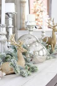 diy white christmas vignette christmas themes christmas