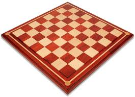 Wooden Chess Set by Mission Craft African Padauk Blood Rosewood U0026 Maple Solid Wood