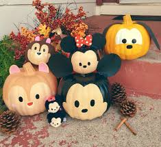 tsum tsum painted pumpkins disney pinterest holidays