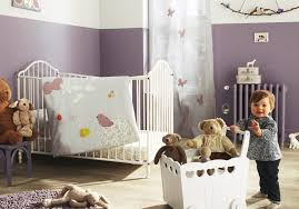 bedroom baby nursery cheerful purple baby nursery decoration