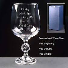 Godmother Wine Glass Godmother Birthday Gifts Ebay