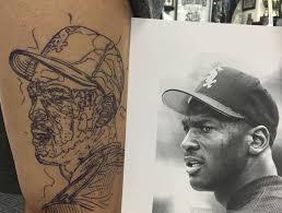 fan u0027s tattoo honors michael jordan u0027s baseball career thescore com