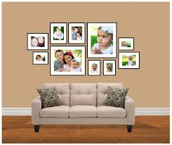 family photo wall gallery template including frame sizes frame