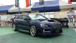 subaru hatchback wing rowen subaru levorg tuning huge wing for racing wagon autoevolution