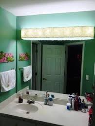 Cover Ugly Hollywood Lights Bathroom DIY Home Pinterest - Bathroom vanity light with shades