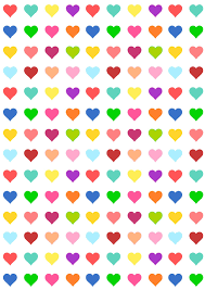 heart wrapping paper free printable heart pattern paper candycolors free
