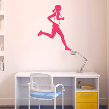 runner girl removable wall decal running decals running stickers runner girl removable goneforarungraphix wall decal