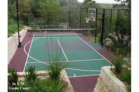 Backyard Tennis Courts Dallas Outdoor Game Courts Photo Gallery U2013 Sport Court Dallas