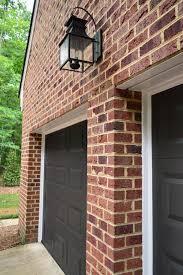 painting our garage doors a richer deeper color dark doors