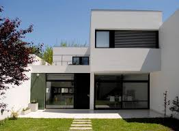 modern minimalist house modern minimalist house with large outdoor space feat concrete floor