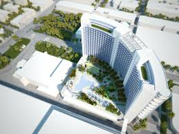 proposed miami beach convention center hotel design towers over