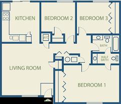 3 Bedroom Apartments Colorado Springs Emejing 3 Bedroom Apartment Floor Plans Photos Decorating