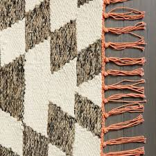 Modern Kilim Rugs Palmette Chenille Wool Kilim Rug Iron West Elm