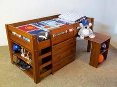 bunk bed trundle desk woodworking loft plans all in one toy