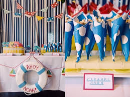 Sailboat Centerpieces Nautical Theme - 12 nautical birthday party and baby shower ideas spaceships and