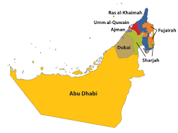 uae map map of uae major tourist attractions maps