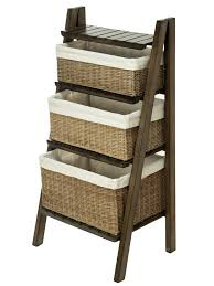 Wicker Shelves Bathroom by Amazon Com Kouboo Ladder Shelf With Wicker Baskets Home Improvement