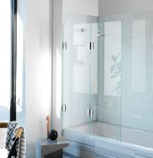 diptych bi fold bath screen frameless glass shower screens