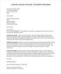 Cover Letter For High School Teaching Position Cover Letter Sle Teaching Position Sle Cover Letter